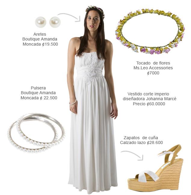 Vestidos blancos para matrimonio en la playa