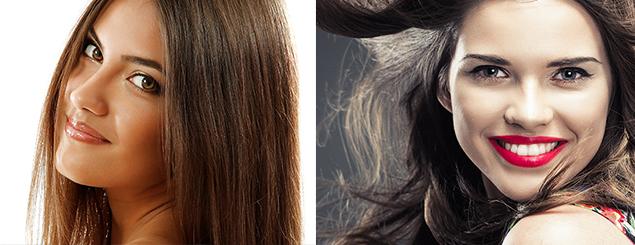 Color de cabello para piel amarilla morena
