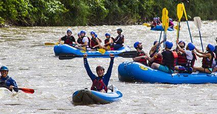 ¡La adrenalina del rafting!