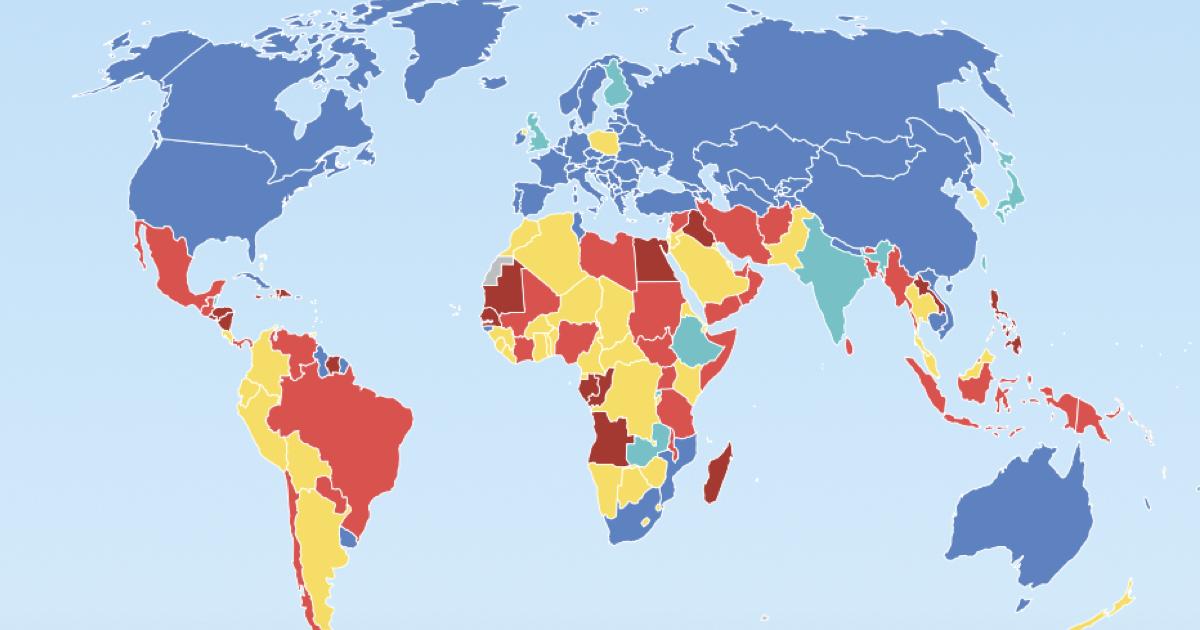 Países que permiten o penalizan el aborto.